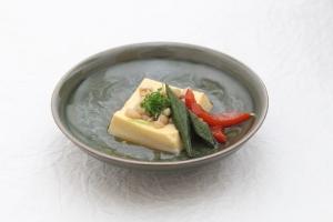 きのこ出汁の卵豆腐