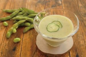胡瓜と枝豆の翡翠汁