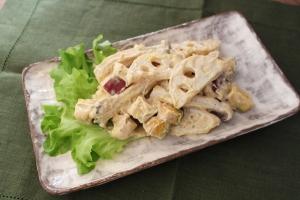 秋野菜の出汁マヨサラダ